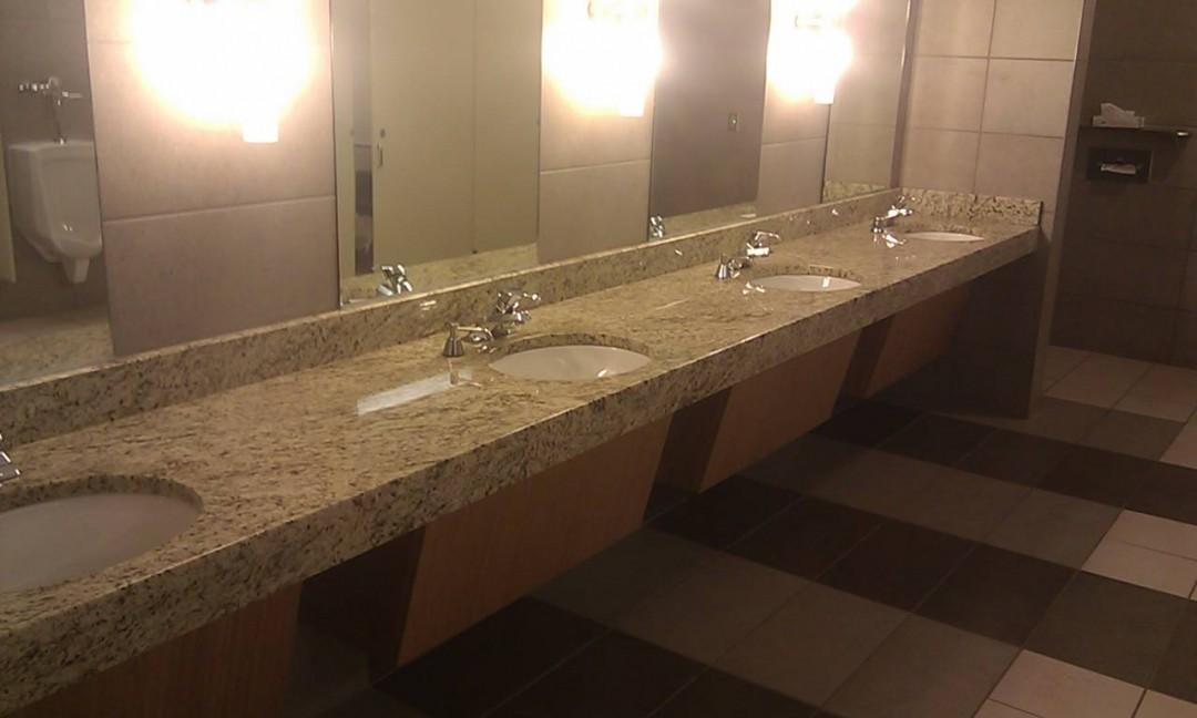 Consol Arena public restroom