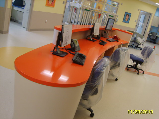 nurses station work area view
