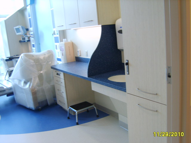 patient room exam unit