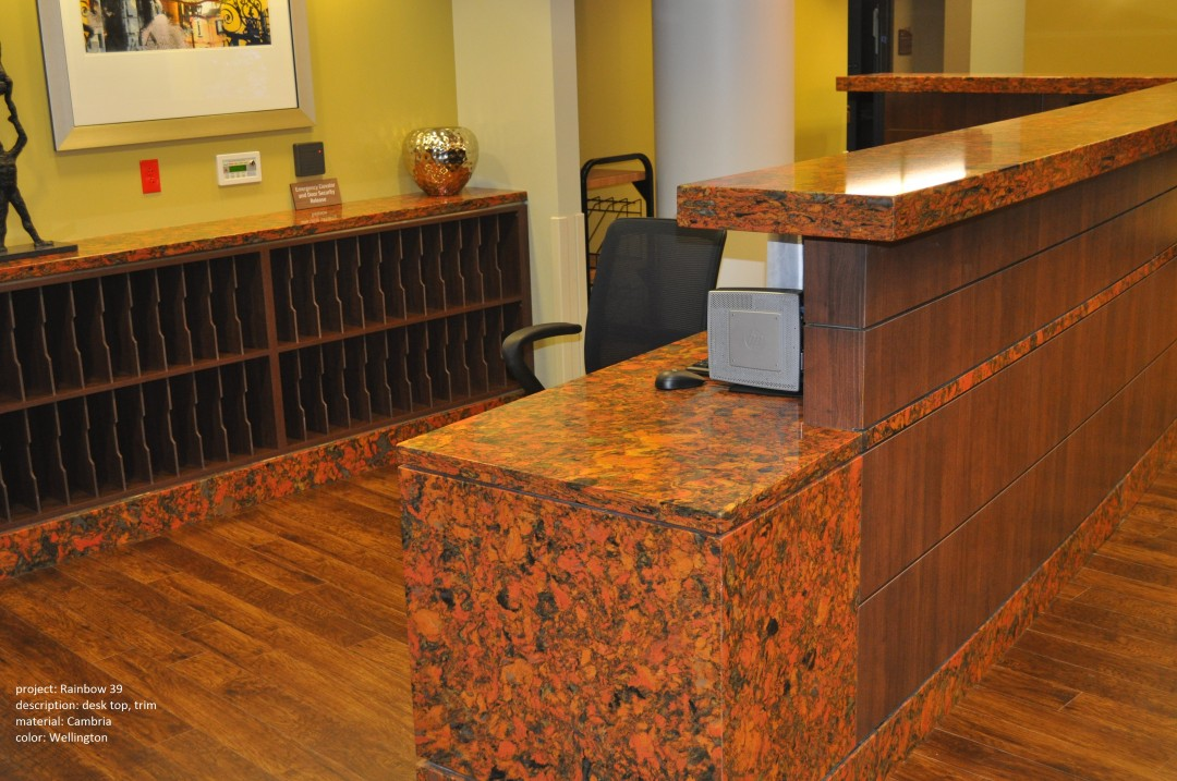 rainbow reception desk